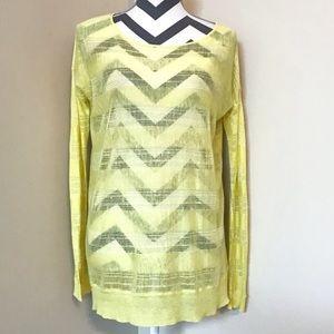 Theory Sheer Linen Striped Long Sweater